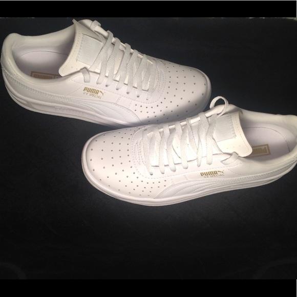 Puma Shoes   All White Pumas   Poshmark